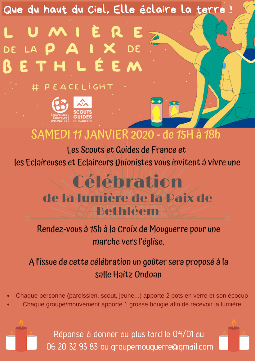 invitation lumiere de Bethleem